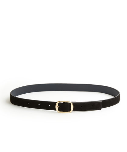 Suede Contrast Belt - 30 / Black & Midnight - (ki:ts)