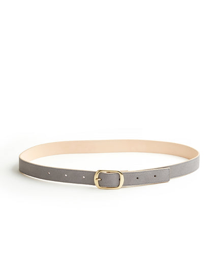 Suede Contrast Belt - 30 / Light Grey & Natural (ki:ts)