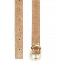 Load image into Gallery viewer, Suede Contrast Belt - 30 / Fawn & Natural - (ki:ts)