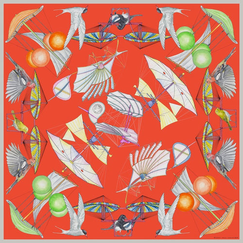 Scarf / Ornithopter Coral / Orange / CU203 - SWASH LONDON