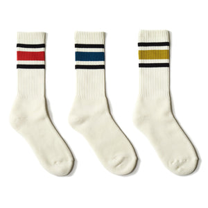 80's Skater socks / red line - decka