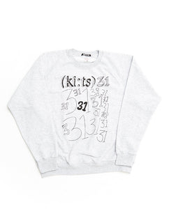 31 31 31 Sweatshirt / Gray - (ki:ts) x Black Score