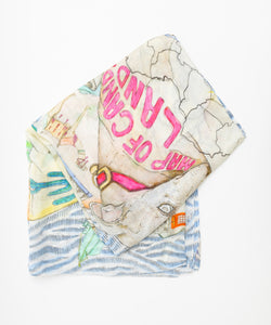 Scarf / Candyland Marinere / Multi & Blue / CU238 - SWASH LONDON