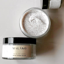 Load image into Gallery viewer, Skin To Soul Body Creme Scrub (Glass Jar) - MALAKO