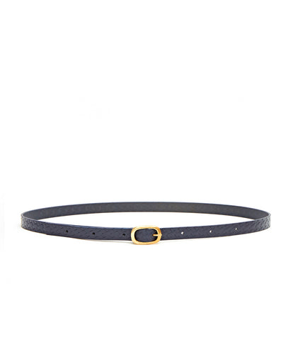 Plait Emboss Narrow Belt / Navy - (ki:ts)