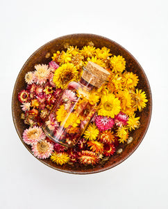 Dried Flower Bottle / Colourful Mix
