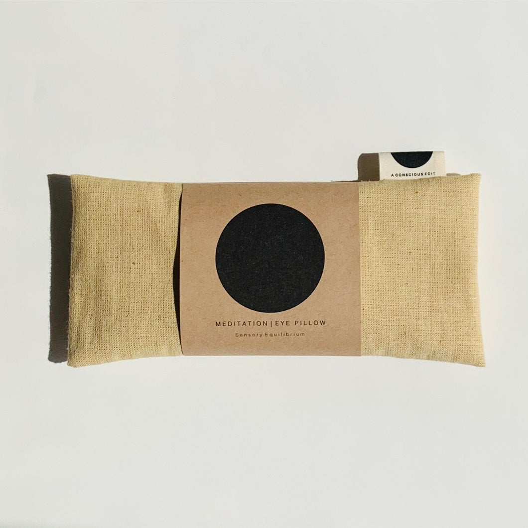 Meditation Eye Pillow / Raw Silk Natural - a conscious edit