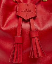 Load image into Gallery viewer, Drawstring Bag with 2 Way Shoulder Strap - S / Cherry Red- (ki:ts)