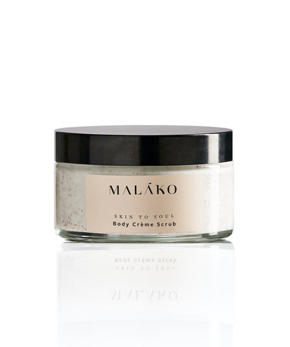 Skin To Soul Body Creme Scrub (Glass Jar) - MALAKO