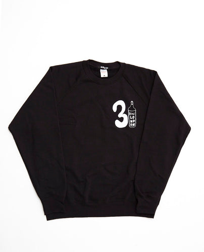 31 Wine Bottle Sweatshirt / Black - (ki:ts) x Black Score