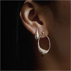 INA EARRINGS / SILVER - BAR JEWELLERY