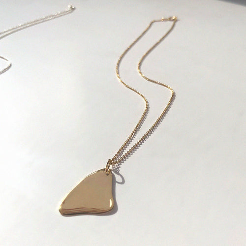 FLUX NECKLACE / GOLD - BAR JEWELLERY