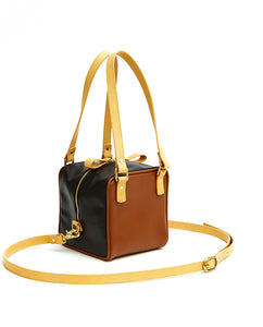 Cube Bag Soft Mix - S / Caramel, Sunflower, Smooth Black - (ki:ts)