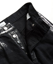 Load image into Gallery viewer, Dad Jean Crop Trousers Gintsugi / Black - TANAKA