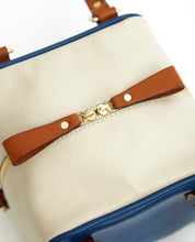Load image into Gallery viewer, Cube Bag Soft Mix - S / Estate Blue, Tan, Cafe Latte - (ki:ts)