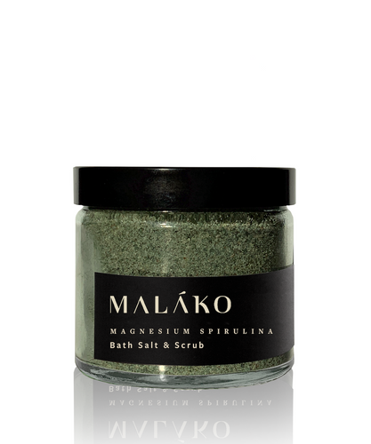 Fully Charged Magnesium Spirulina Bath Salt & Scrub - MALAKO