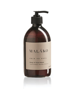 Skin To Soul Body & Hand Wash (Glass Bottle) - MALAKO