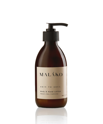 Skin To Soul Body & Hand Lotion (Glass Bottle) - MALAKO