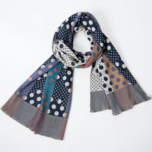 Load image into Gallery viewer, Pools of Light Scarf / Navy - NUNO