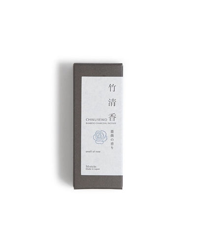 Chikuseiko Charcoal Incense - Short / Rose - Kohchosai Kosuga
