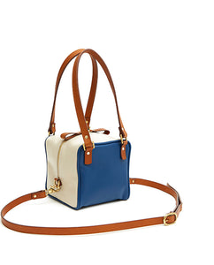 Cube Bag Soft Mix - S / Estate Blue, Tan, Cafe Latte - (ki:ts)