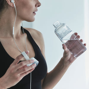 WORKOUT BOTTLE 480ml / Clear - KINTO