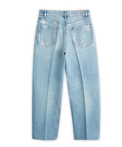 Dad Jean Crop Trousers Gintsugi / Blue - TANAKA