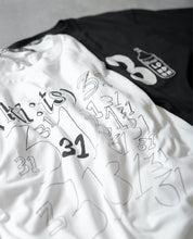 Load image into Gallery viewer, 31 31 31 T-shirt / White - (ki:ts) x Black Score