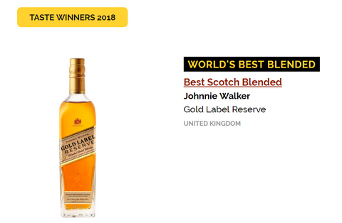 Whisky Gold Label Reserve en los WWA