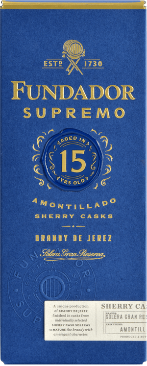 Brandy Fundador Supremo 15 años 700ml | bogar-wines.