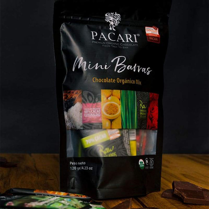 Chocolate Orgánico Pacari Pack 12 Mini Barras 120g | bogar-wines.