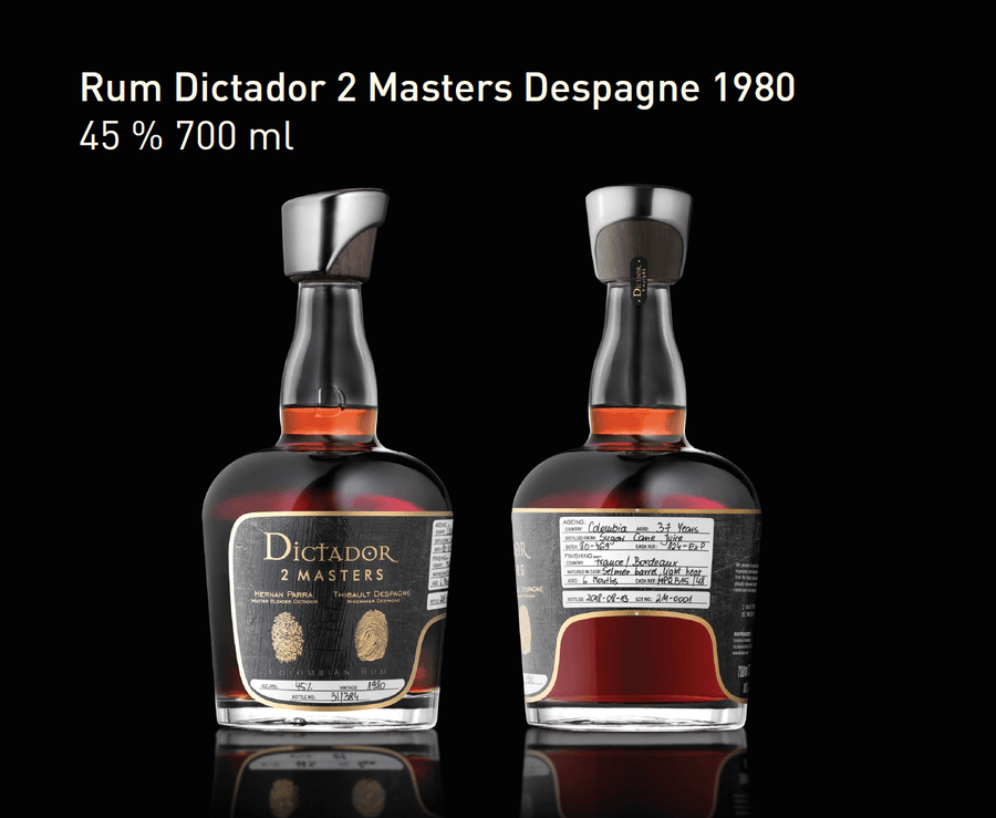 Ron Dictador 2 Masters Despagne 1980 700ml | bogar-wines.