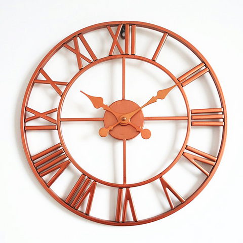 Horloge Murale Industrielle Couleur Rose Or