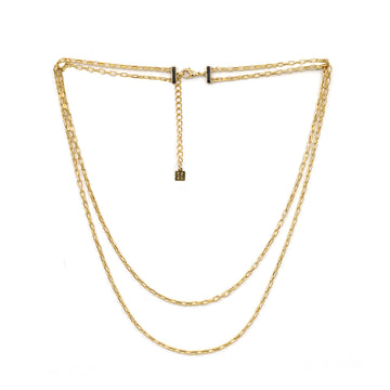 Links Double Chain Necklace