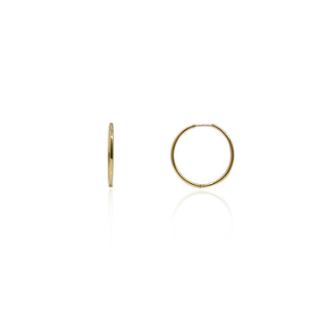 Medium Modern Hoops - Gold