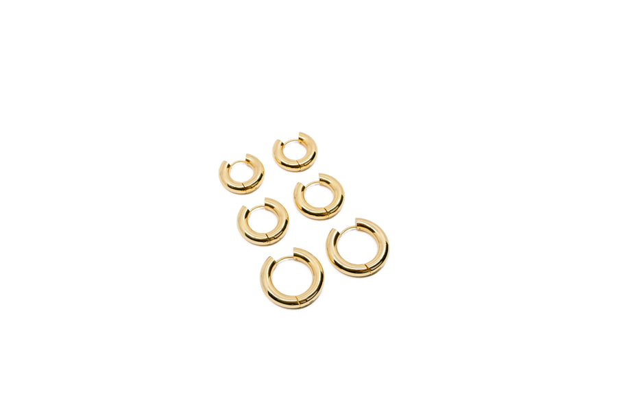 SIA GOLD HOOPS
