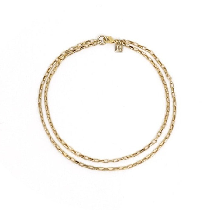 LINKS DOUBLE CHAIN ANKLET