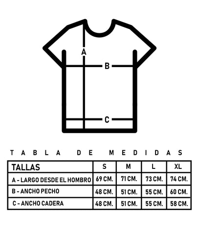 tabla de tallas polera bekanvas