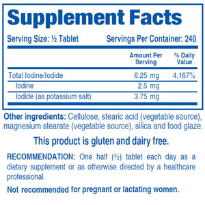 High Potency Elemental Iodine and Iodide Supplement,  Iodizyme-HP by Biotics Research