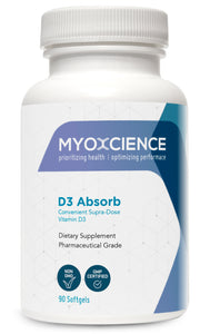 *NEW* D3 Absorb | 5,000 IU Vitamin D3 in Organic, extra virgin olive oil.