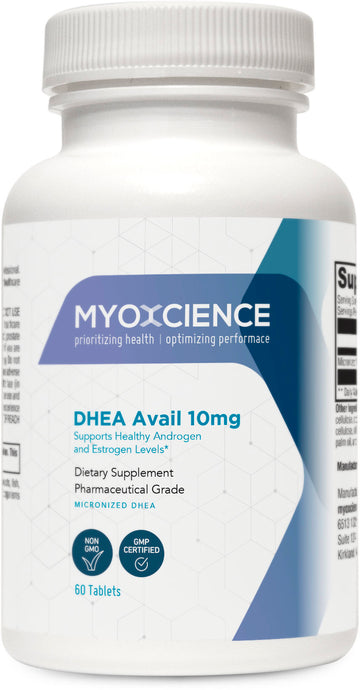 DHEA Avail | Micronized Dehydroepiandrosterone | DHEA | 10 and 25 mg