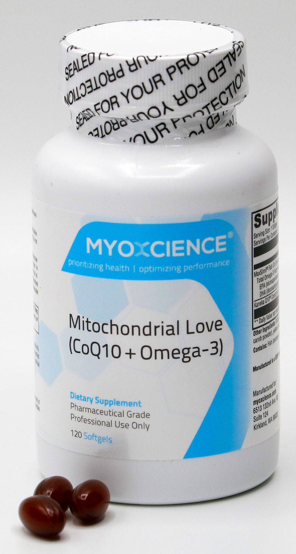 Mitochondrial Love | Coenzyme Q10  Monoglyceride Fish Oil EPA & DHA | Dual-Action Cardiovascular Support