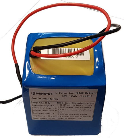 12v 12Ah (144w) Lithium Ion Battery