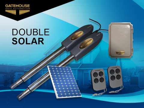 GateHouse double solar gate kit: 4.5 meters