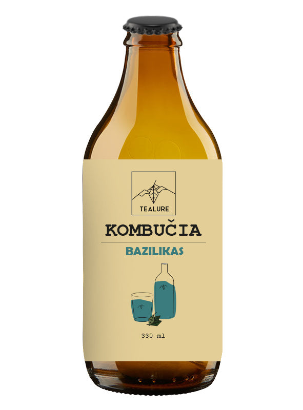Kombucha TEALURE su baziliku, 330ml