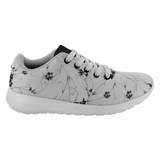 Black & White Floral Unisex Running Shoes