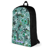 Green Floral Water-Proof Backpack