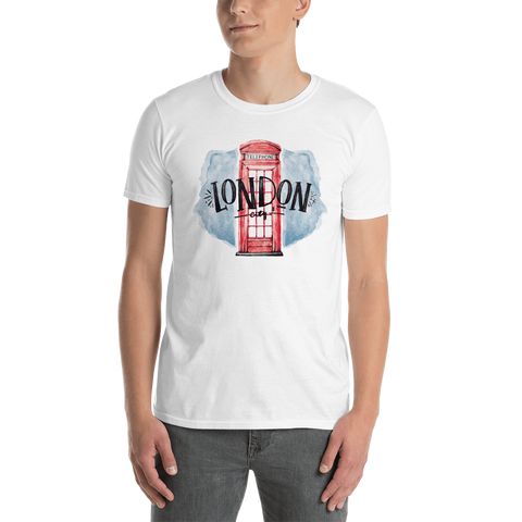 Short-Sleeve Men's T-Shirt with London Print