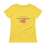 Wonderful Summer for You Ladies' Scoopneck T-Shirt