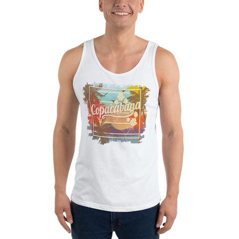 Men Tank Top with Vintage Copacabana Print